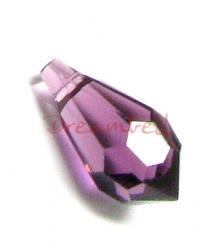 4x Swarovski Elements Crystal 6000 Teardrop Amethyst 11mm