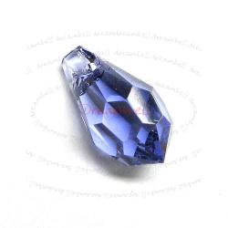 4 Swarovski Elements 6000 Teardrop Tanzanite 13mm Pendant