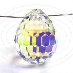 1x Swarovski Elements Crystal AB Disco Drop Pendant Bead 15mm