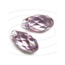 2x Swarovski Elements Crystal Teardrop Briolette 6010 Light Amethyst 11mm
