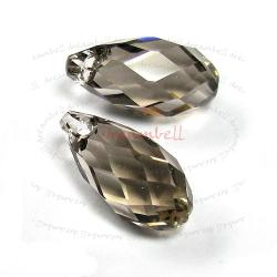 2x Swarovski Elements Crystal Teardrop Briolette 6010 Greige 11mmx5.5mm