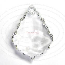 1x Swarovski Elements Crystal 6091 Baroque Pendant Clear 28mm