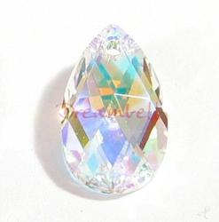 Teardrop Swarovski Crystal 6106 Pendant Clear  ab 22mm