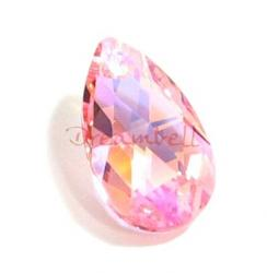 Teardrop Swarovski Crystal 6106 Pendant Lt ROSE AB 22mm