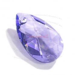 Teardrop Swarovski Crystal 6106 Pendant TANZANITE 22mm