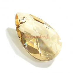 Teardrop Swarovski Crystal 6106 Pendant Golden Shadow 38mm