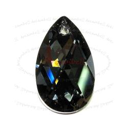 Swarovski Crystal Teardrop 6106 Pendant Silver night 28mm