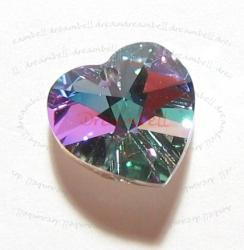 1x Swarovski Crystal Heart Charm pendant VITRAIL LIGHT 18mm 6202