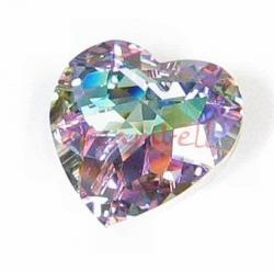 1x SWAROVSKI 6215 VITRAIL LIGHT AB HEART CRYSTAL PENDANT 18mm