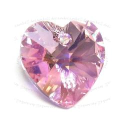 Swarovski Crystal Xilion Heart Charm pendant Light Rose AB 18mm 6228