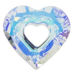 Swarovski 6262 Crystal Miss U Heart Charm pendant Clear AB 17mm