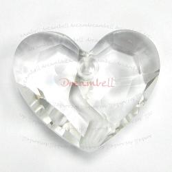 Swarovski 6263 Crystal Forever 1 Heart Charm pendant Clear 36mm