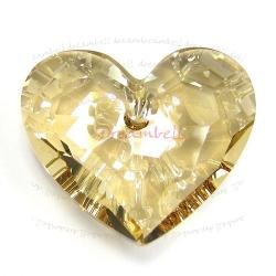 Swarovski 6264 Crystal Truly in Love Heart Charm pendant Golden Shadow 18mm