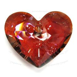 Swarovski 6264 Crystal Truly in Love Heart Charm pendant Red Magma 18mm