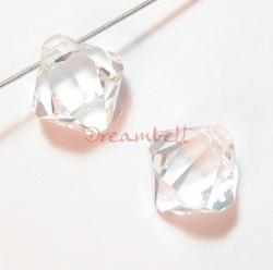 6x Swarovski crystal 6301 Top Drill Bicone Clear 8mm
