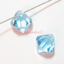 12x Swarovski Elements Crystal 6328 Xilion Top Drill Bicone Aquamarine 6mm