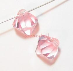 12 x Swarovski Crystal 6301 Top Drill Bicone Light Pink Rose 6mm