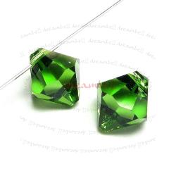 6x Swarovski crystal 6301 Top Drill Bicone Fern Green 8mm