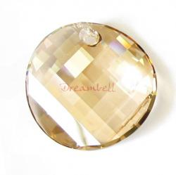 1x SWAROVSKI CRYSTAL 6621 GOLDEN SHADOW TWIST PENDANT 18mm NEW
