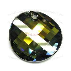 1x SWAROVSKI CRYSTAL 6621 TABAC P TWIST PENDANT 28mm NEW