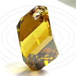 Swarovski Crystal 6650 Cubist Pendant Bead Copper 22mm