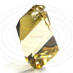 Swarovski Crystal 6650 Cubist Pendant Bead Golden Shadow 22mm