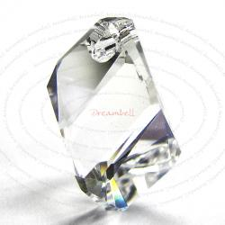 Swarovski Crystal 6650 Cubist Pendant Bead Moonlight 22mm