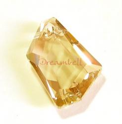 Swarovski Elements Crystal 6670 18mm Golden Shadow De-art Pendant