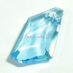 Swarovski Elements Crystal 6670 24mm Aquamarine Pendant