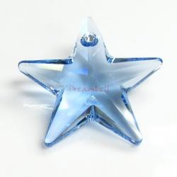 1x Swarovski Crystal Star Pendant Light Sapphire 6714 28mm