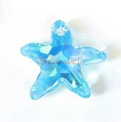 NEW Swarovski Crystal Starfish 6721 Star Fish Aquamarine AB 20mm