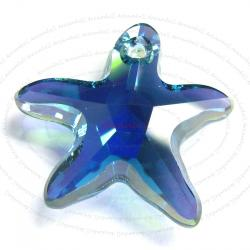 1x NEW Swarovski Crystal Starfish 6721 Star Fish Indicolite AB 16mm
