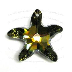 NEW Swarovski Crystal Starfish 6721 Star Fish TABAC 28mm