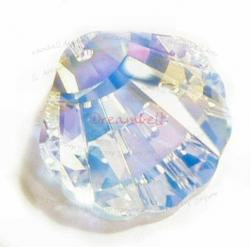 Swarovski Seashell 6723 Crystal Pendant 16mm Clear AB