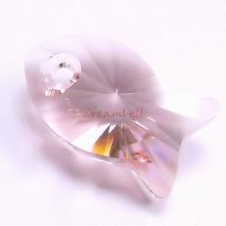1x Swarovski Crystal Fish Pendant Light Rose 6727