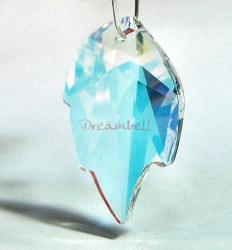 Swarovski Crystal 6735 Leaf Bead Pendant Clear AB 26MM