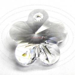 2x Swarovski Elements Crystal 6744 Flower Charm Bead 12 mm Clear