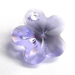 2x Swarovski Elements Crystal 6744 Flower Bead 14mm Lavender
