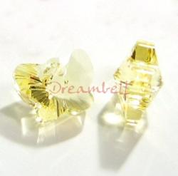 1x Swarovski Elements Crystal 6754 18mm Butterfly Pendant Jonquil