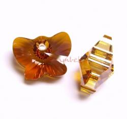 1x Swarovski Elements Crystal 6754 18mm Butterfly Pendant Copper