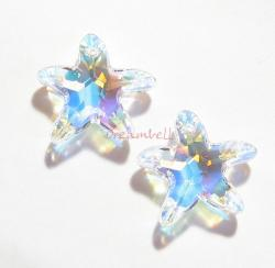 1 Swarovski Crystal Starfish 6721 Star Fish clear AB NEW
