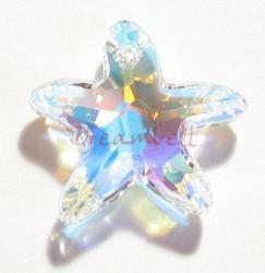 NEW Swarovski Crystal Starfish 6721 Star Fish clear AB 40mm
