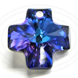 1x Swarovski Elements Crystal 6866 Cross Pendant Heliotrope AB