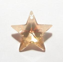 1x Swarovski Crystal 6714 Golden Shadow Star Pendant 20mm New