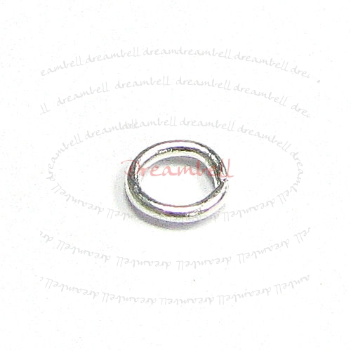 200x Silver plated Metal Open Jump Rings Bead 21ga 4mm