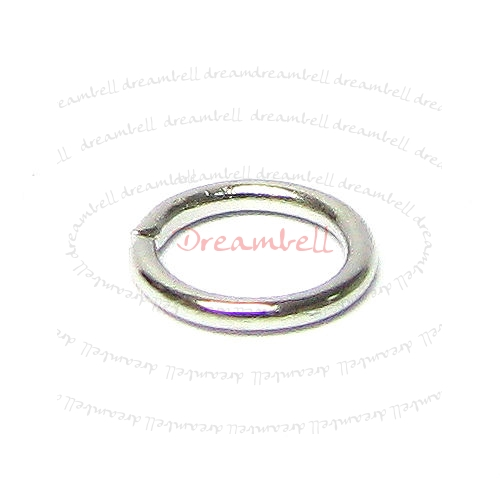 200x Rhodium plated metal Open Jump Rings Bead 5mm