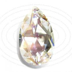 1x Large Teardrop Briolette Swarovski Elements Crystal Pendant 38mm 8721 AB