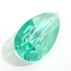 1 x Swarovski Elements Crystal Teardrop 8731 Pendant Ant Green 38mm