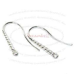 2x Sterling Silver SPIRAL Earring Earwire French  Hook