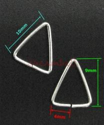 10x STERLING SILVER TRIANGLE JUMP RINGS BAIL 10mm